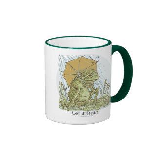 Frog Under Umbrella Mug