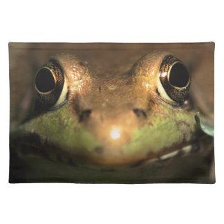 frog up close placemat