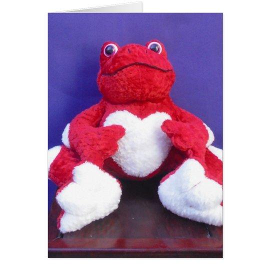 Frog Valentine Card