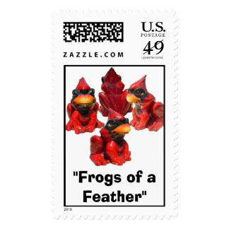"Frog View ...., ""Frogs of a Feather"" Postage Stamp"