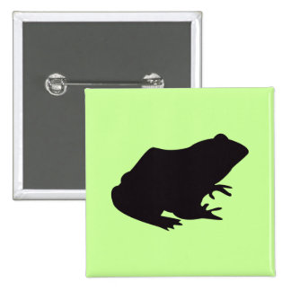 Frog Vintage Wood Engraving Button