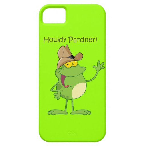 Frog Waving Howdy iPhone SE/5/5s Case