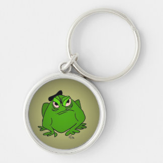 Frog wearing a Beret Key Chain