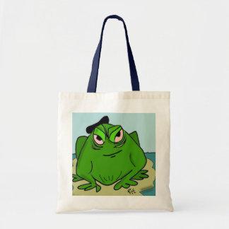 Frog wearing a Beret shopping bag