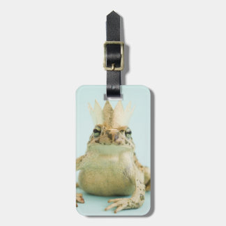 Frog wearing crown bag tag