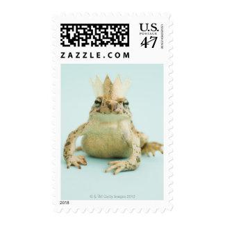 Frog wearing crown postage