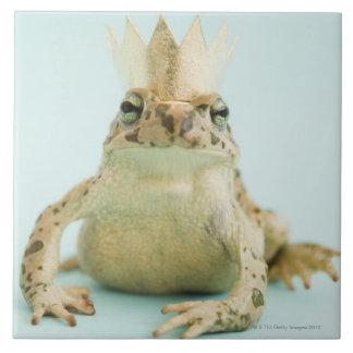 Frog wearing crown tiles