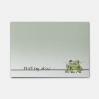 Frog Wears Glasses to Think About It Post-it Notes