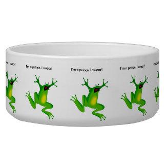 Frog Who Thinks He's a Prince Cartoon Bowl
