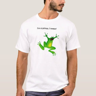 Frog Who Thinks He's a Prince Cartoon T-Shirt