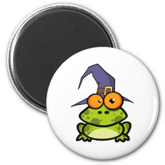Frog With A Witch Hat Magnet
