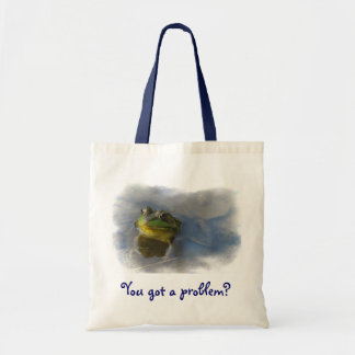 Frog with Attitude Canvas Bag