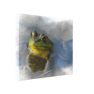 Frog with Attitude Canvas Print