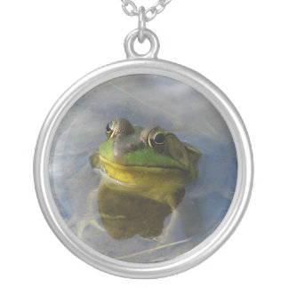Frog with Attitude Silver Plated Necklace