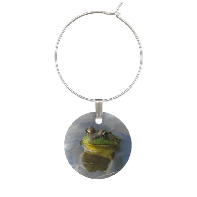 Frog with Attitude Wine Charm