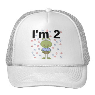 Frog With Cupcake 2nd Birthday Tshirts Trucker Hat
