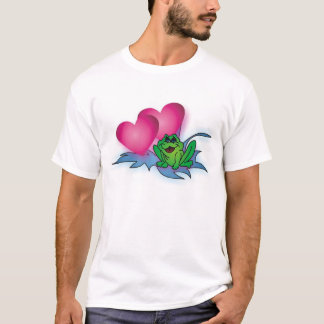 Frog with double hearts (add names to design) T-Shirt
