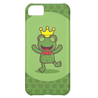 Frog with Frog Pattern iPhone 5C Cover