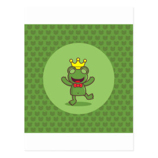 Frog with Frog Pattern Postcard