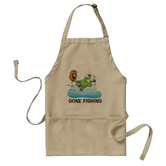 Frog with Hat Adult Apron