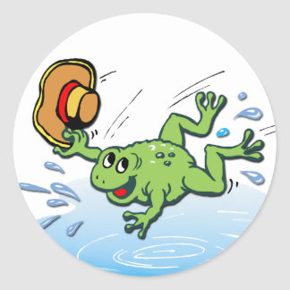 Frog with Hat Classic Round Sticker