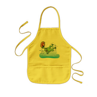 Frog with Hat Kids' Apron