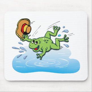 Frog with Hat Mouse Pad