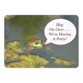 FROG WITH HEAD POPPED UP OUT OF WATER CARD