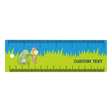 Frog with Icecream 6 inch Ruler