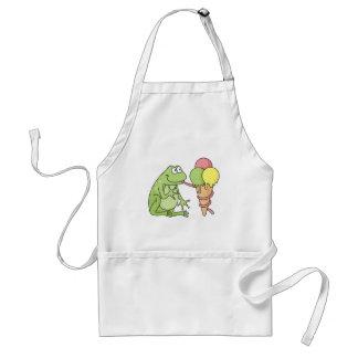 Frog with Icecream Adult Apron