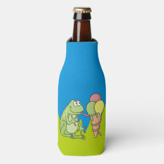 Frog with Icecream Bottle Cooler