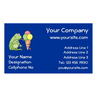 Frog with Icecream Business Card