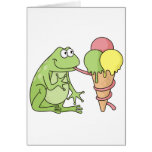 Frog with Icecream Card