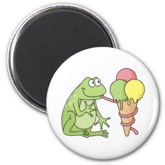 Frog with Icecream Magnet