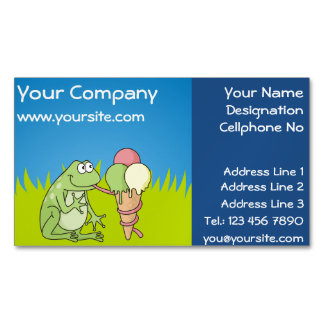 Frog with Icecream Magnetic Business Card