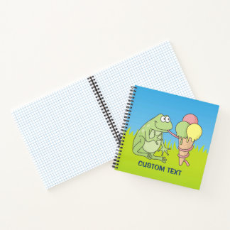 Frog with Icecream Notebook