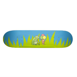 Frog with Icecream Skateboard