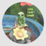 Frog With Message Sticker