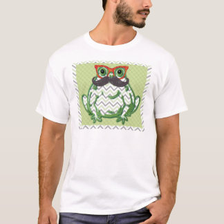 Frog with mustache and fish glasses by Artinspired T-Shirt