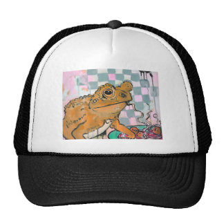 Frog with Pasta and Meatballs trucker hat