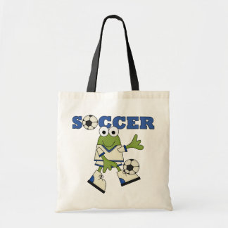 Frog With Soccer Ball T-shirts and Gifts Canvas Bags