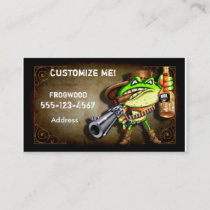 Frog Wood Business Card ( Cowboy Frog)