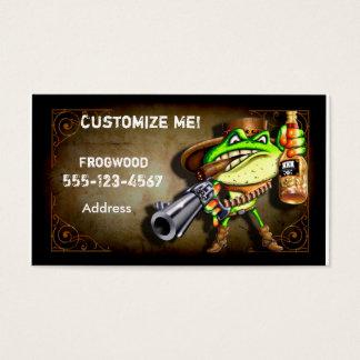 Frog Wood Business Card ( Cowboy Frog)