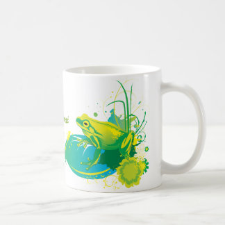 Frog yellow green custom mug