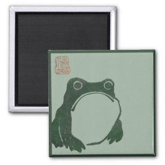Frog zen meditation magnet