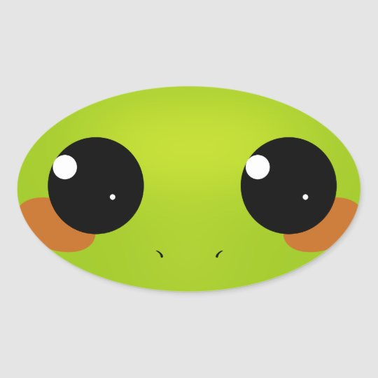 FrogBlush Oval Sticker