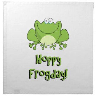 ¡Frogday de lúpulo! Rana feliz de viernes Servilletas Imprimidas