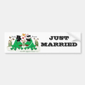Frogette & Freddy Frog Car Bumper Sticker
