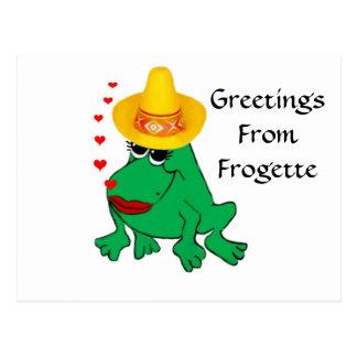 Frogette Postcard