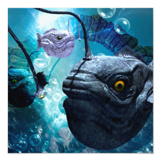 Frogfish with bubbles card